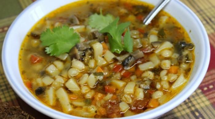 Суп из замороженных грибов в мультиварке