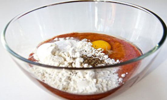 готовим тесто из печёнки