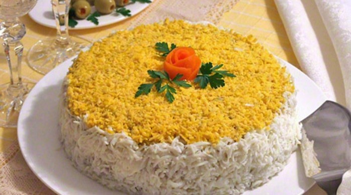 Печеночный торт из говяжьей печени с луком и морковью