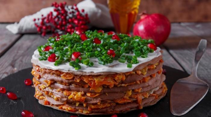 Как приготовить очень вкусный печеночный торт из говяжьей печени
