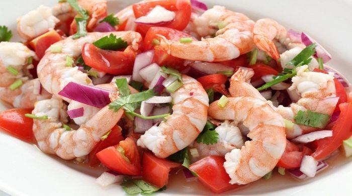 Рецепты салата с креветками и помидорами — готовим домашний салат