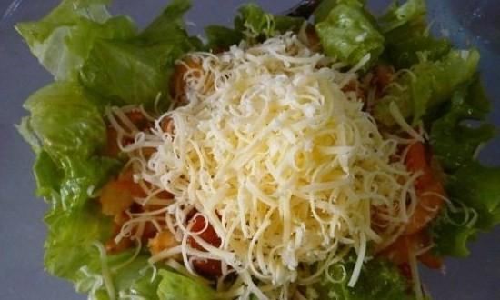 добавили натёртый сыр