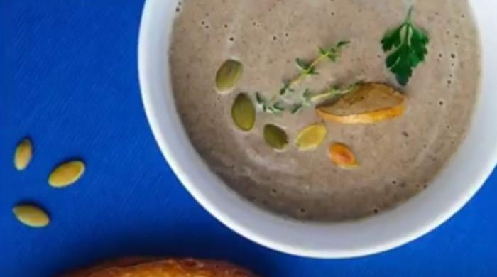 Грибной суп-пюре из замороженных грибов