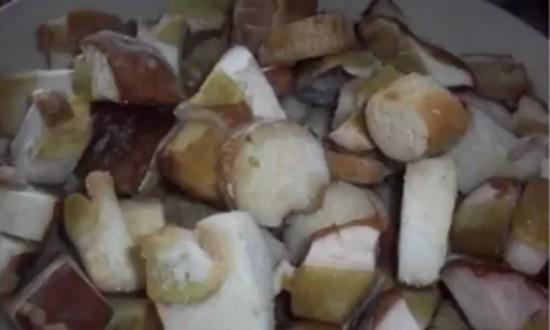 размораживаем грибы