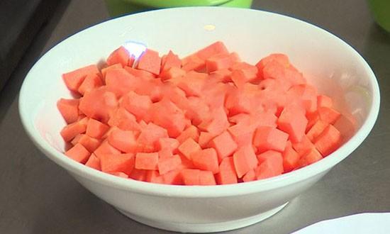 порезанная морковь