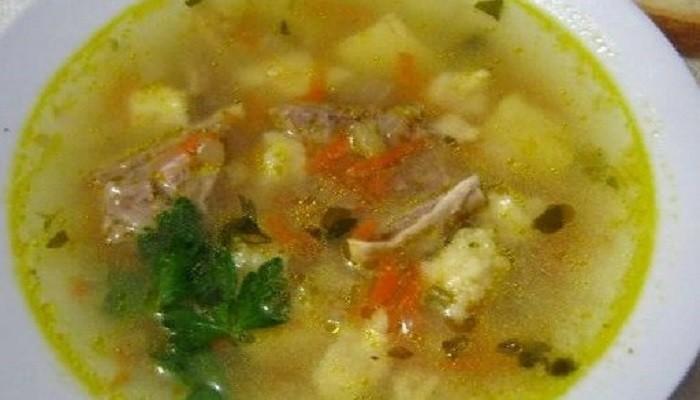 Суп из говядины с клецками