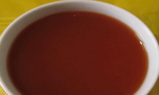 залить томатным расствором