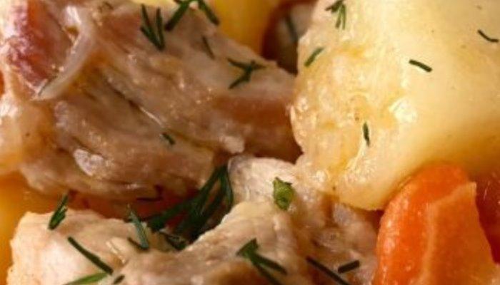 Жаркое с картофелем и свининой