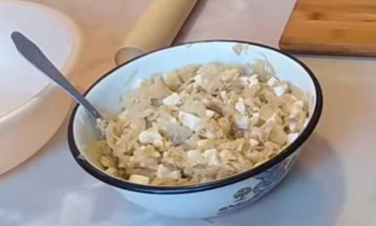 начинка из капусты и яйца