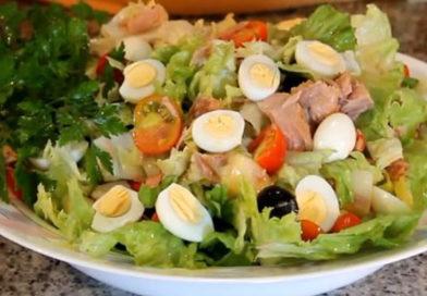 Очень вкусный салат с консервированным тунцом без майонеза