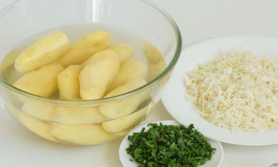готовим ингредиенты для начинки