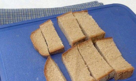 Измельчаем хлеб