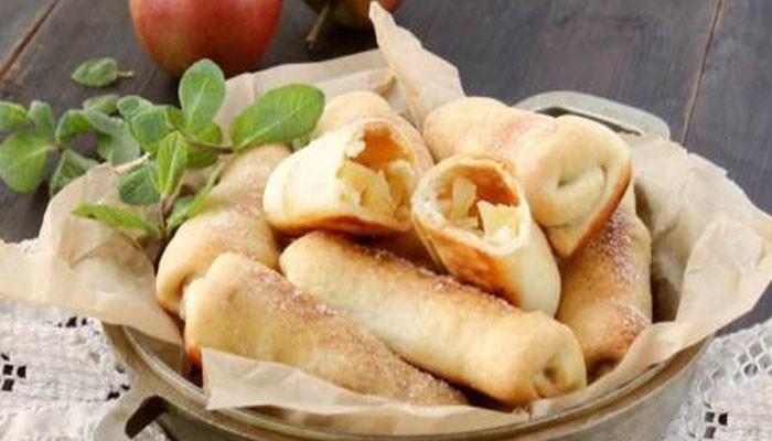 Постные яблочные пирожки