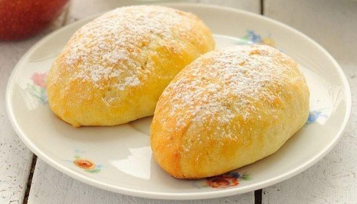 творожные пирожки с яблоками и с корицей
