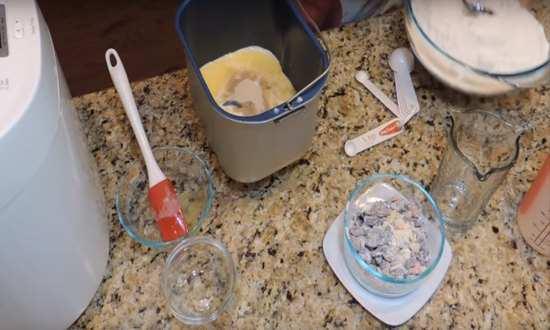закладываем ингредиенты в чашу