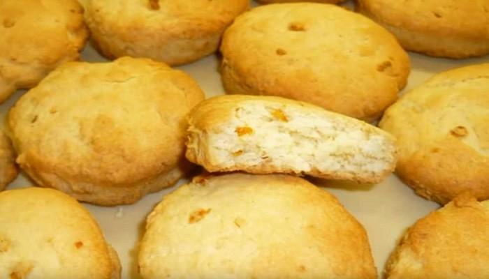 печенье на рассоле с кокосовой стружкой