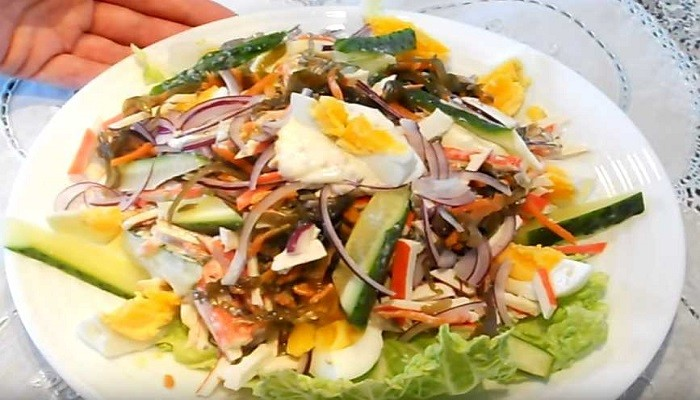 салат из морской капусты без майонеза