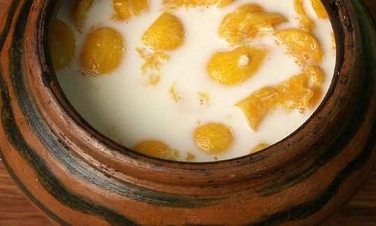 залить кашу молоком