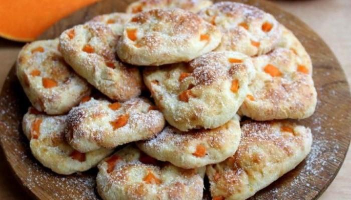 Печенье с тыквой и творогом