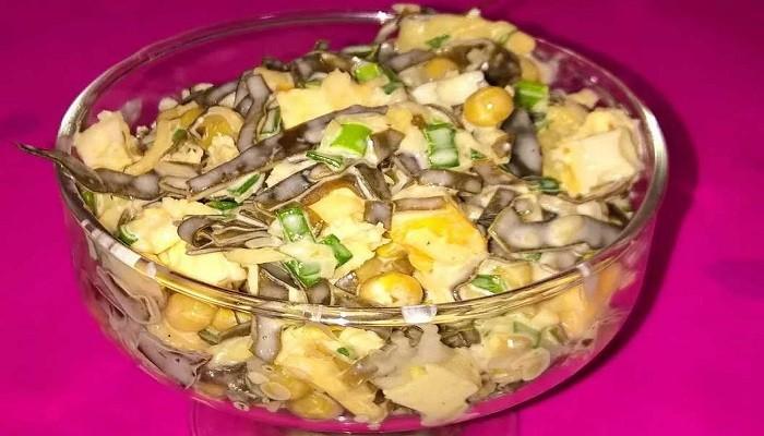 салат с морской капустой и сыром