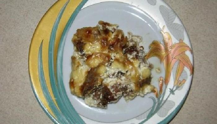 Куриная печень в сметане в духовке