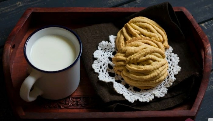 Творожное печенье хризантемы