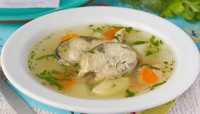 Суп из свежемороженой скумбрии