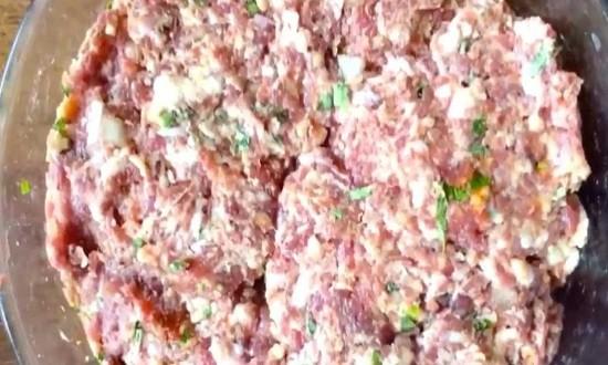 фарш из говядину