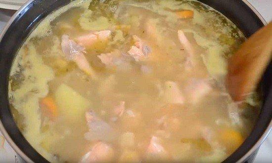 вернуть рыбу в суп
