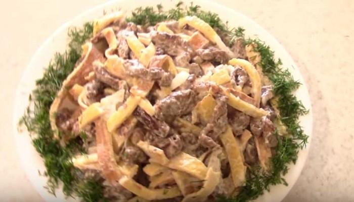 Быстрый и простой рецепт салата с говядиной