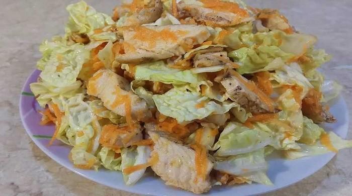 Готовим салат из капусты с куриной грудкой — простые рецепты вкусного салата