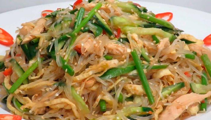 Диетический японский салат