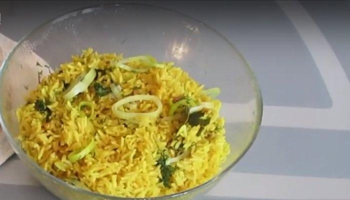 Гарнир к рыбе из риса