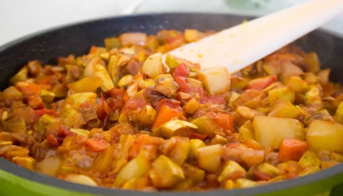 Картофельное рагу к рыбе