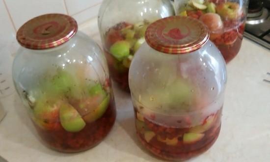 Бланшируем фруктово-ягодную смесь