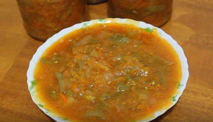 Закуска из зеленых помидор на зиму в мультиварке