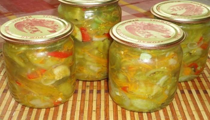Салат из зеленых помидор на зиму простой рецепт