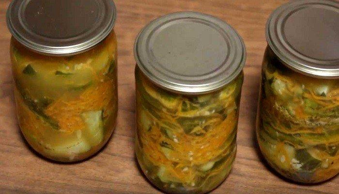 Огурцы по-корейски с морковью и горчицей на зиму