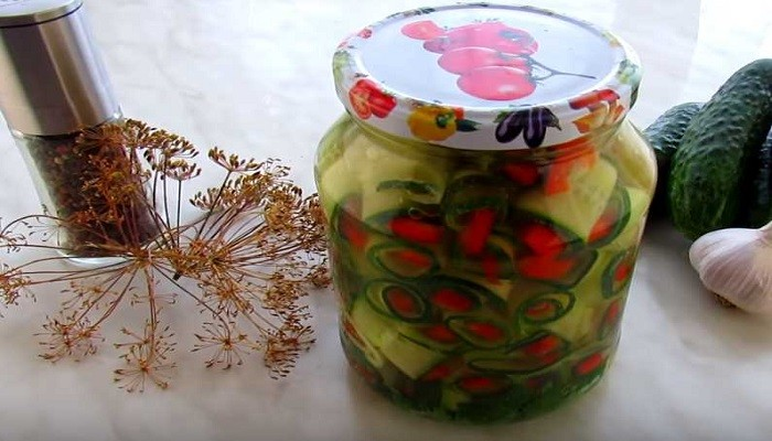 Оригинальная закуска на зиму из огурцов без стерилизации