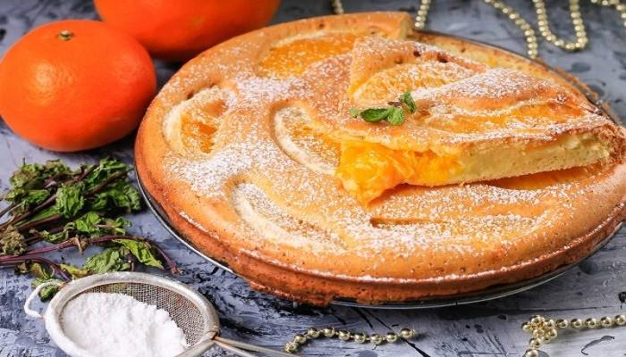 Шарлотка из яблок и апельсинов
