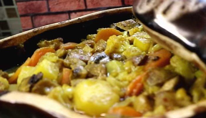Рагу из овощей с говядиной и апельсинами