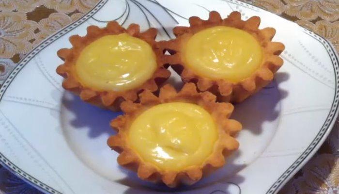 Песочные корзиночки с лимонным кремом