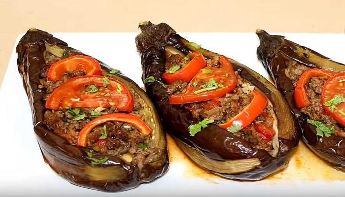 Баклажаны, фаршированные по-турецки с мясным фаршем