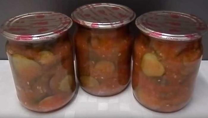 Лечо с огурцами, помидорами и сладким перцем