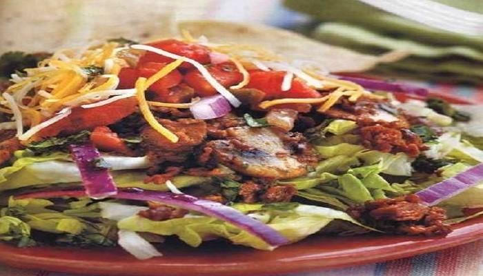 Грибной салат с мясом