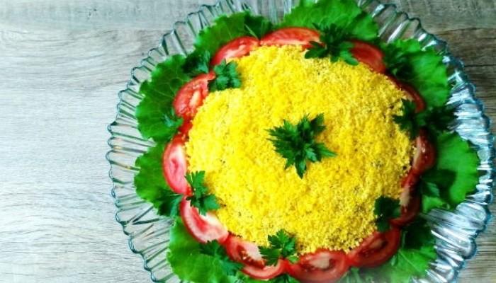 Салат с печенью трески без использования майонеза