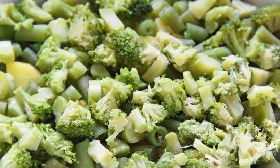 Измельчаем брокколи
