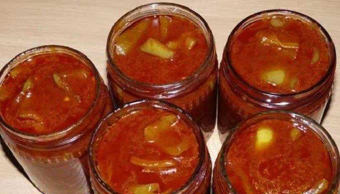 Лечо из перца с томатной пастой на зиму