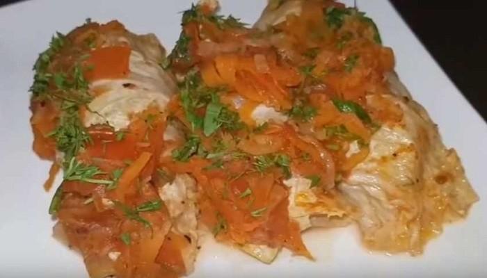 Простой рецепт голубцов из пекинской капусты в духовке