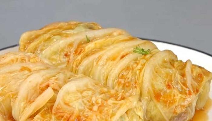 Голубцы из пекинской капусты в духовке с необычной начинкой